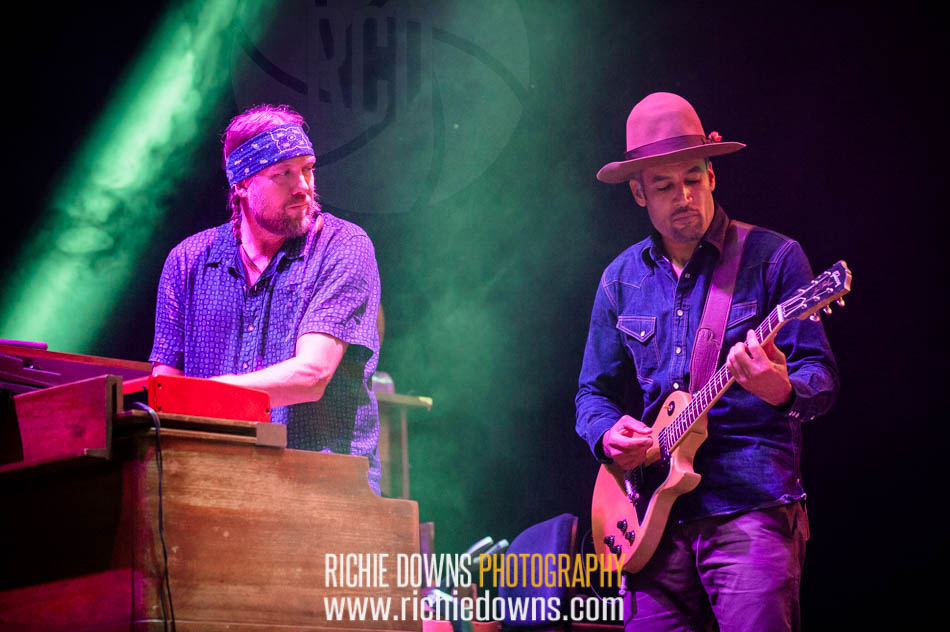 Ben Harper & The Inocent Criminals perform during Merryland Music Festival at Merriweather Post Pavilion in Columbia, MD on July 10, 2016 (Photo by Richie Downs).